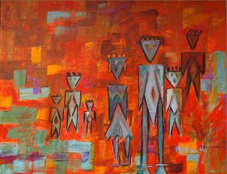 'Lost Triangle Tribe' inspired by the Uruguayan artist Joaquin Torres Garcia. By Maxine. Imax Studio