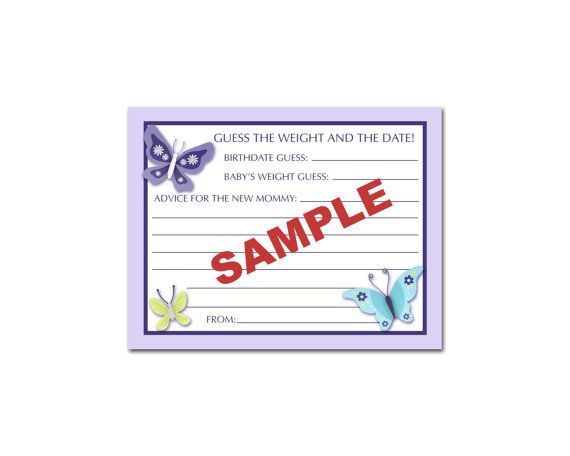 24 Printed NoJo Beautiful Butterfly Purple Baby by BDesigns4You, $9.99