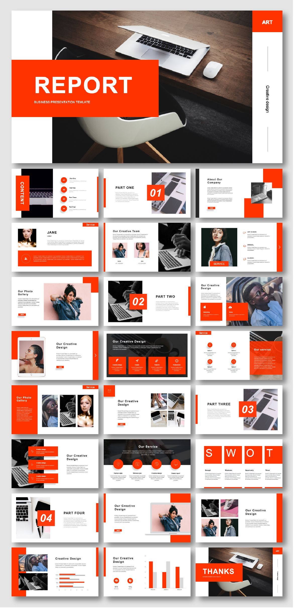 Annual Business & Stylish Presentation Template
