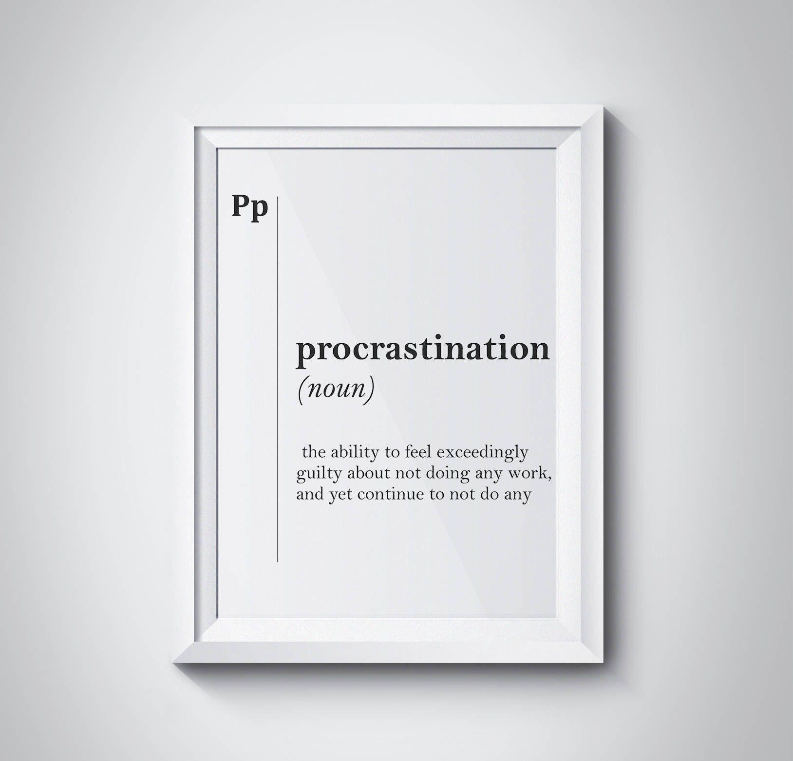procrastination dictionary com