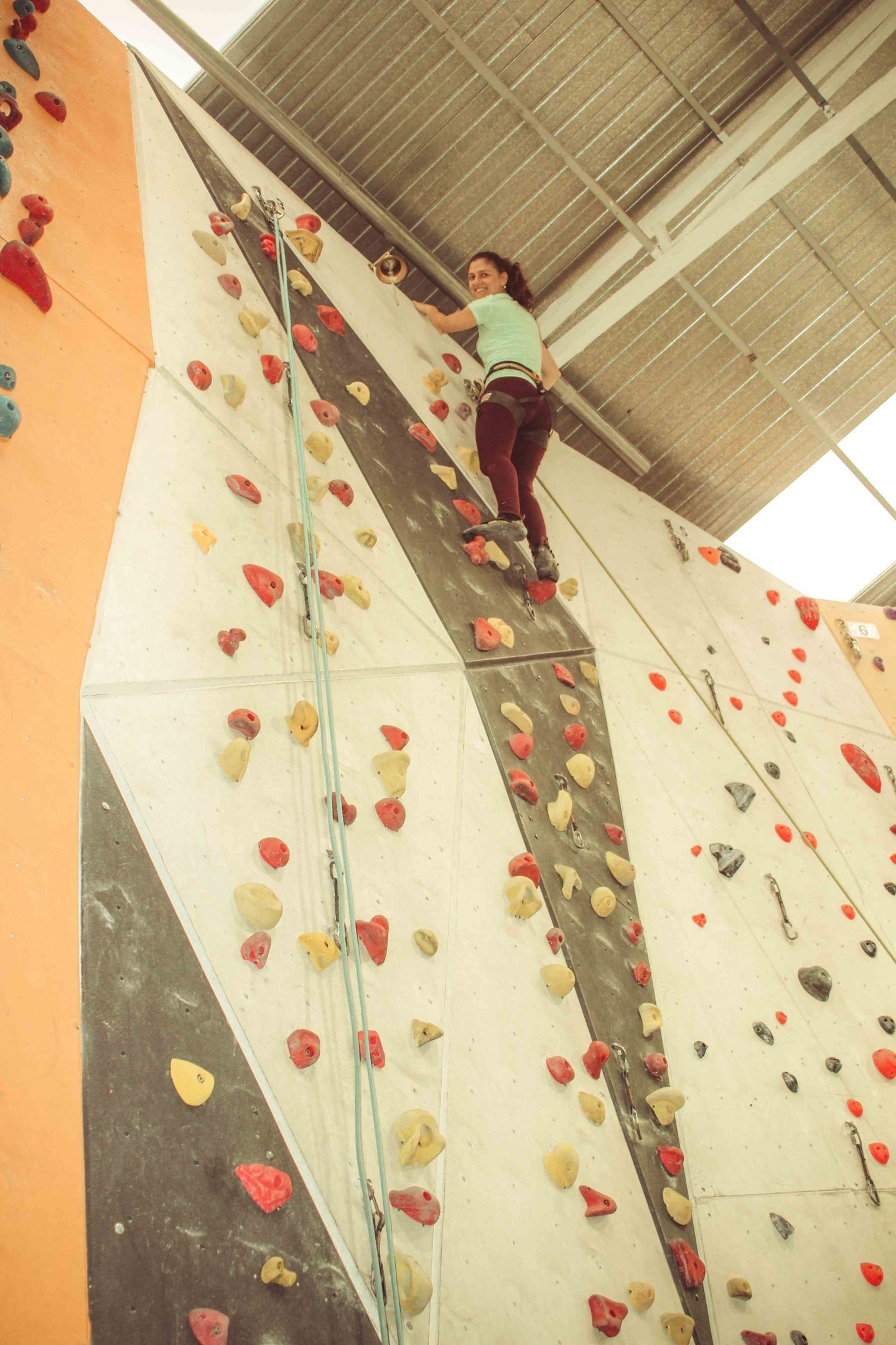Indoor Rock Climbing for kids - a mix of fun and exercise