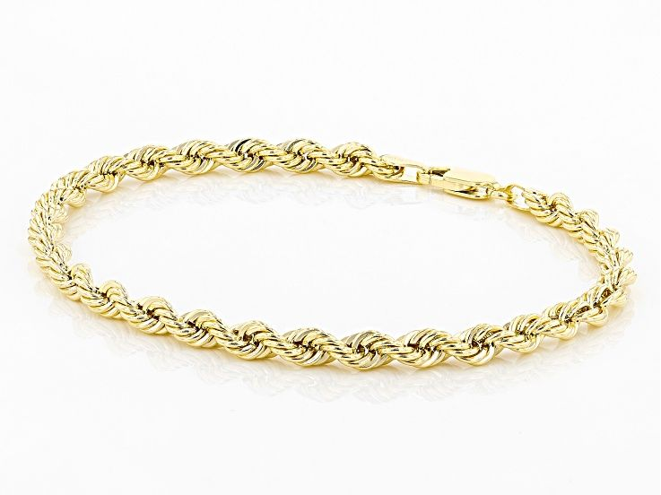 10k Yellow Gold Rope Bracelet Au658 In 2020 Rope Bracelet Bracelets Gold