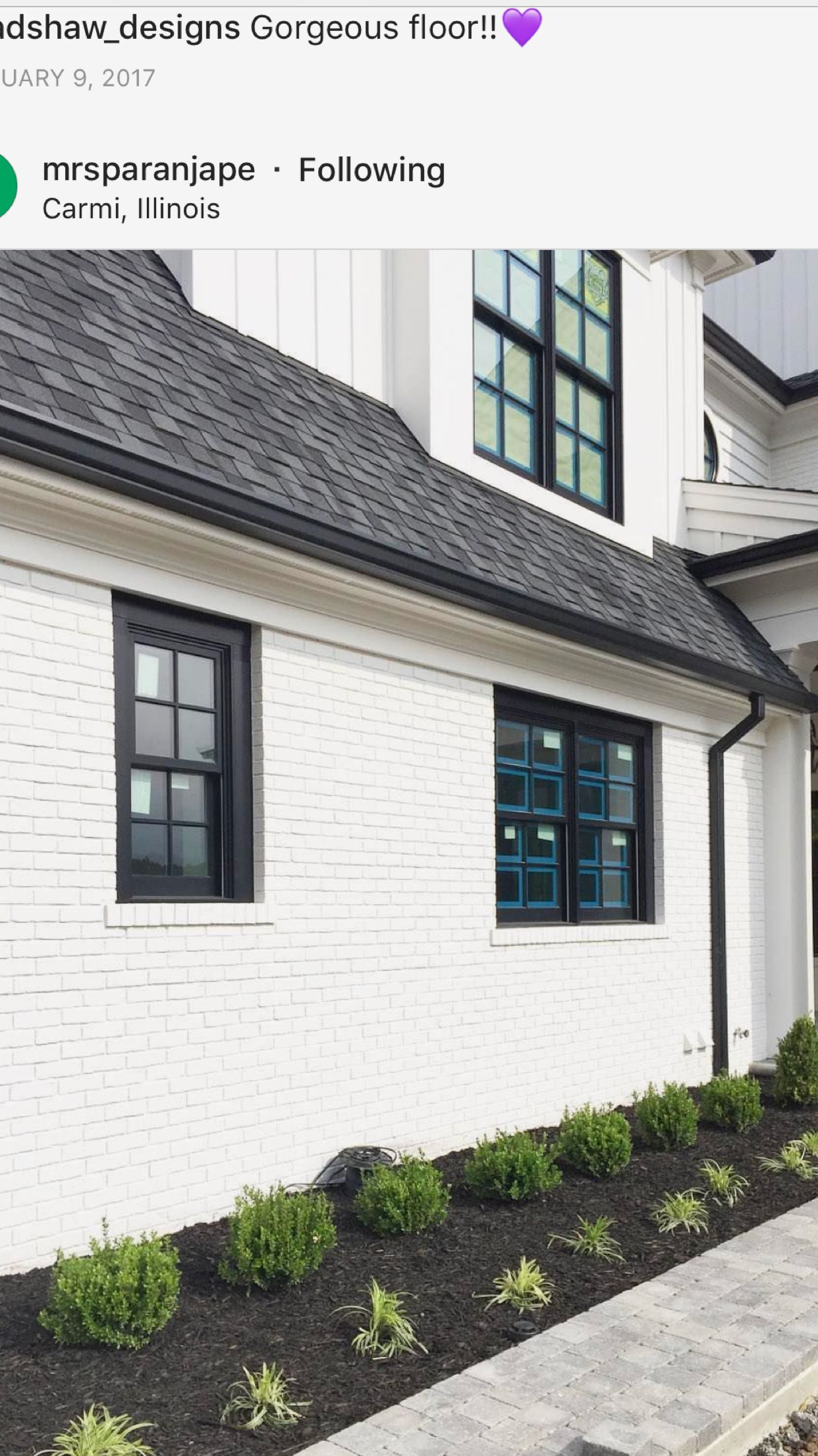 Best Black Windows Black Gutters Roof Color Farmhouse 400 x 300