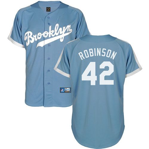... Jackie Robinson Brooklyn Dodgers Light Blue Cooperstown Jersey 109.95  ... c79a652da59