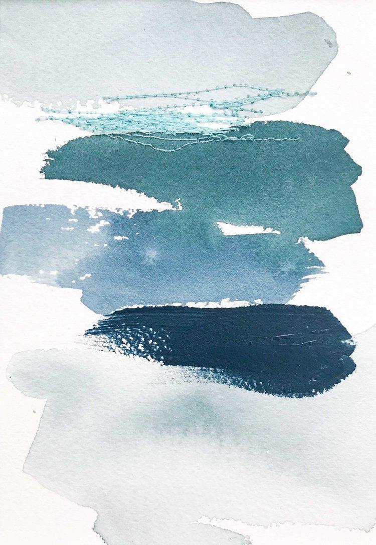 Color Study Indigo Teal Ocean Tones2 Jpg Watercolor Wallpaper Aesthetic Wallpapers Cute Patterns Wallpaper