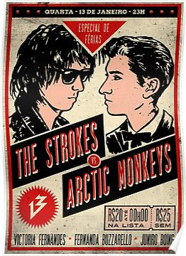 Classic Poster Tour The Strokes Poster The Strokes Arctic Monkeys Cool Posters