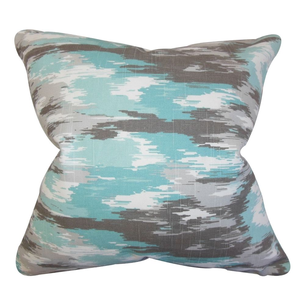 Ishi Ikat Blue Feather Filled 18-inch Throw Pillow | Overstock™ Shopping - Great Deals on PILLOW COLLECTION INC Throw Pillows