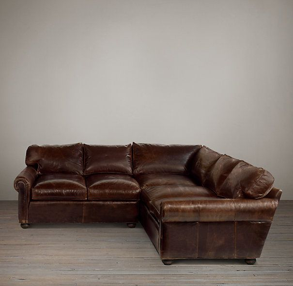 Leather sectional from Restoration Hardware...for the Living Room. Love the distressed : distressed leather sectional couch - Sectionals, Sofas & Couches