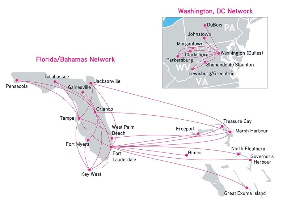 Silver Airways 12.2014 Route Map | Airplanes - Routes Maps ...