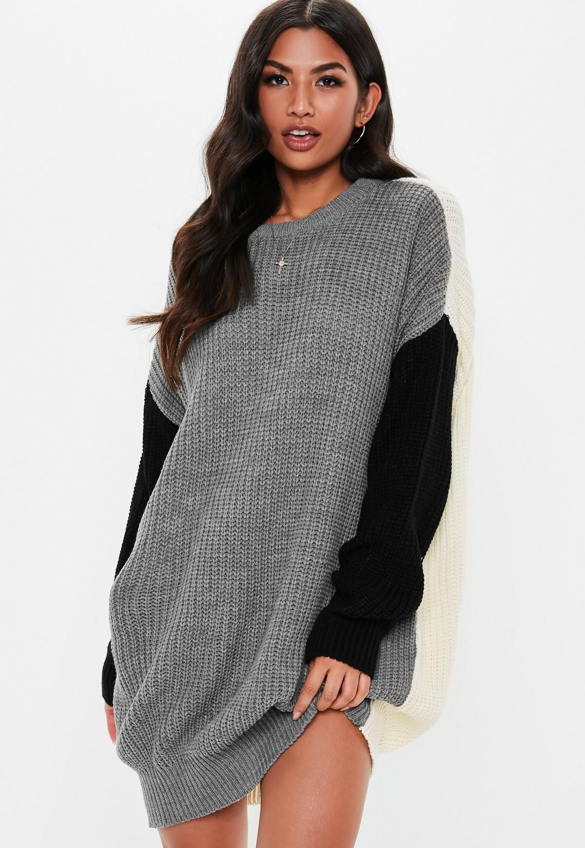 373abe74465 Missguided Size S Grey Jumper Dress