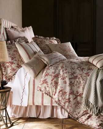 """Bird"" Bed Linens by French Laundry Home at Horchow."