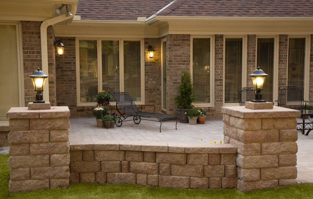 Patios...reminds me of a patio attached to a home down ... on Attached Outdoor Living Spaces id=22638
