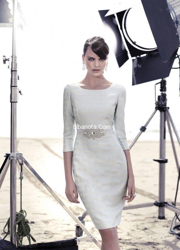 فساتين سوارية 2015 موديلات فساتين قصيرة للسهرات ناعمة Elegant