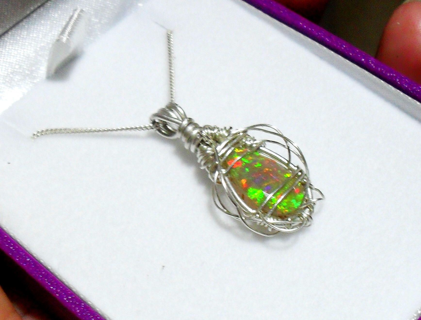 opal michael christopher real carat design with pendant welo a