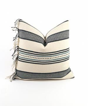 This unique pillow is made from a Vintage Karen boho tribal fabric. There are only two made in a 20