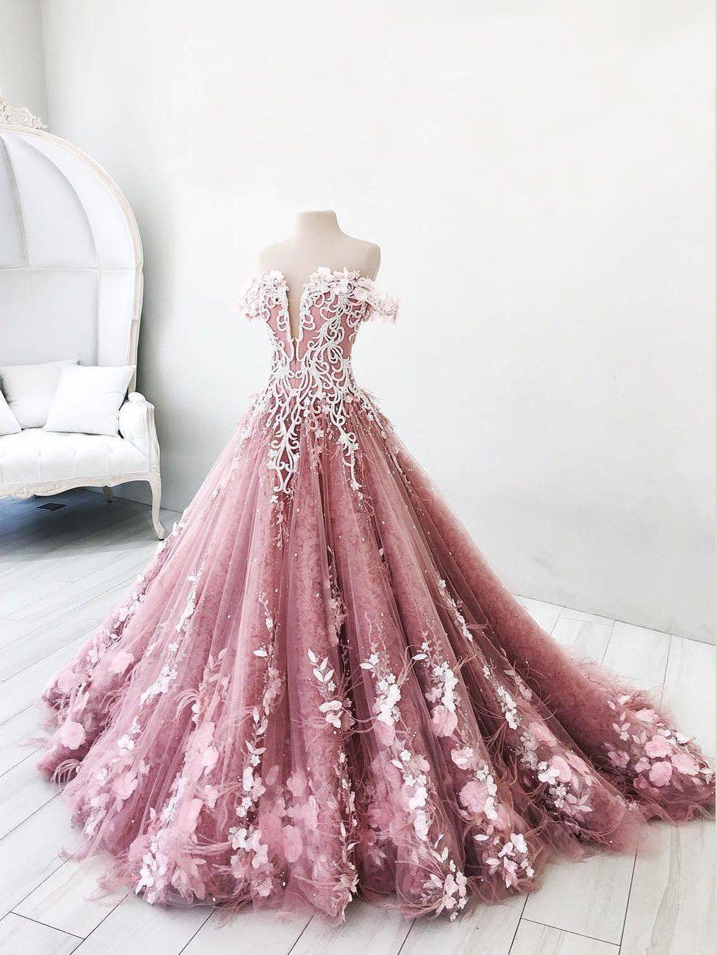 67b3203d611 Ball Gown Wedding Dresses Romantic Long Train Luxury Lace Big Bridal Gown  JKW205