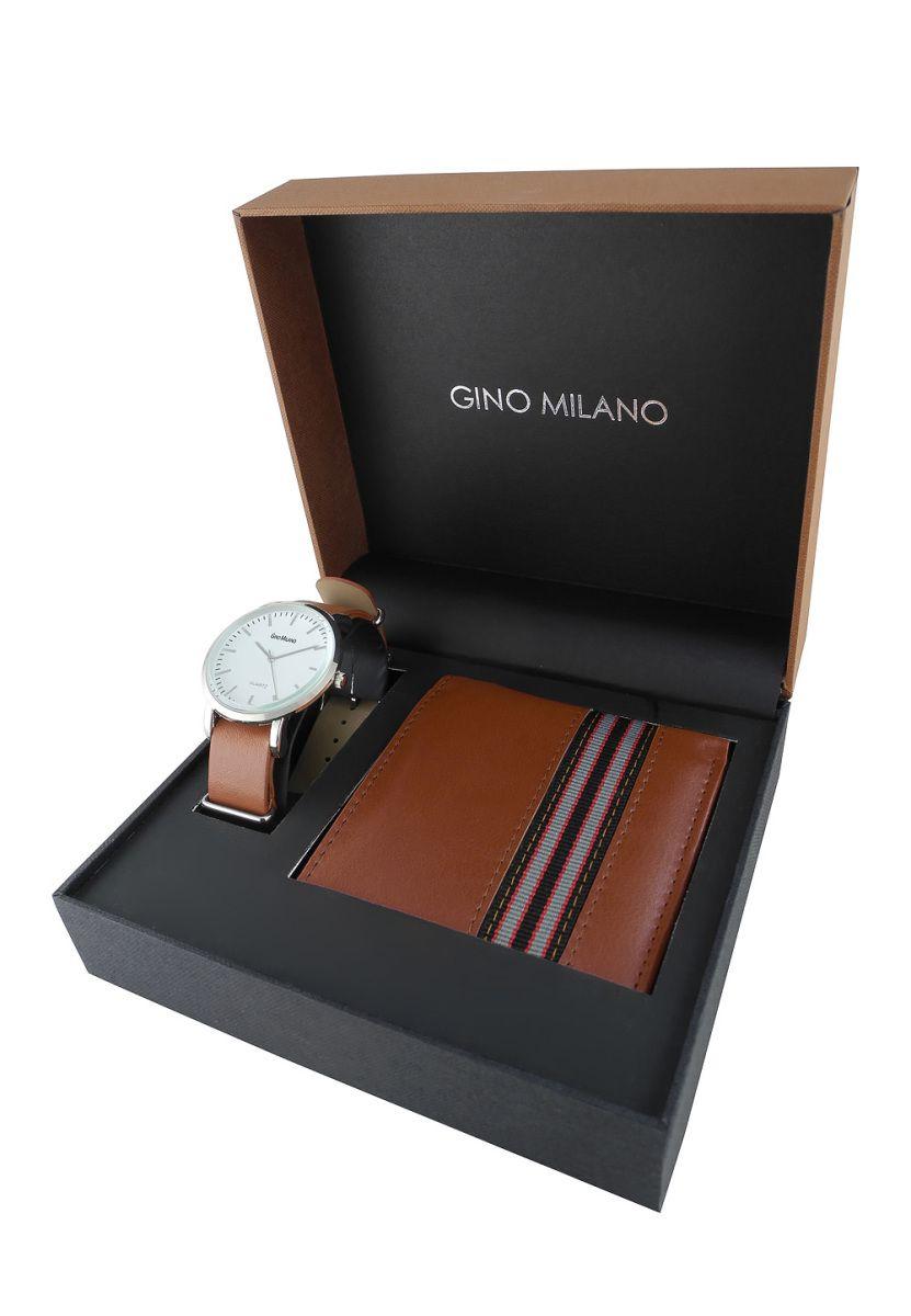 Gino Milano Quarzuhr Geschenk-Set, 2-tlg., Lederarmband braun Jetzt ...