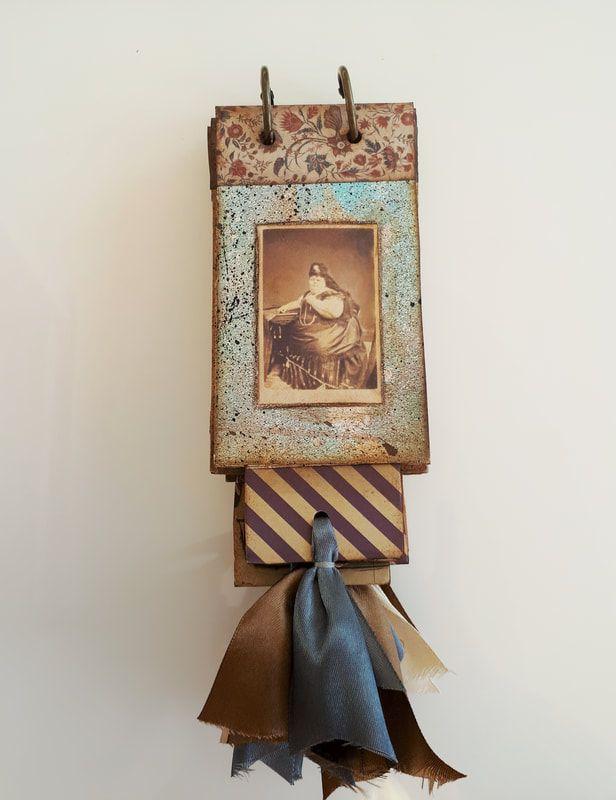 Handmade Vintage Style Mini Album With Bookmark Set