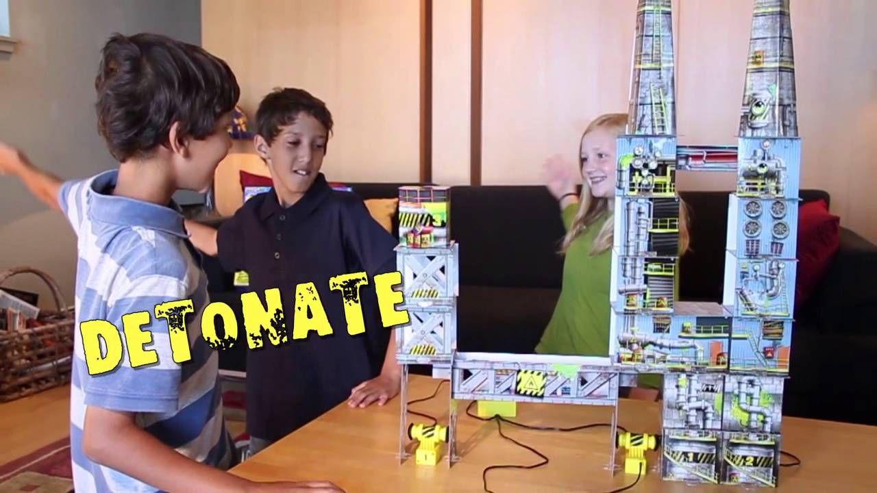 Demolition Lab Triple Blast Warehouse Building For Kids Stem