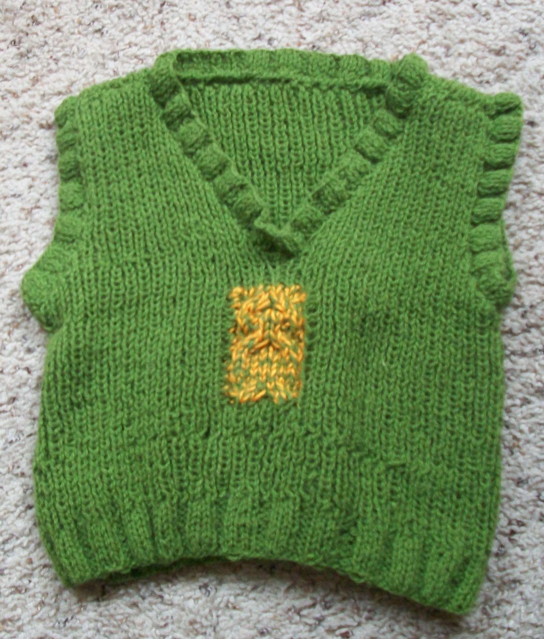 86652630b Chaleco para niño de 2 años. tejido en dos agujas. (Punto elástico ...