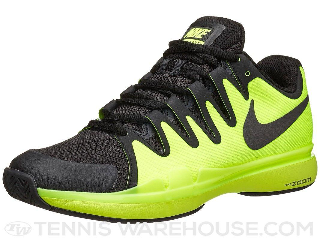 Nike Zoom Vapor 9.5 Tour Volt/Black Men\u0027s Shoe | Tennis Warehouse