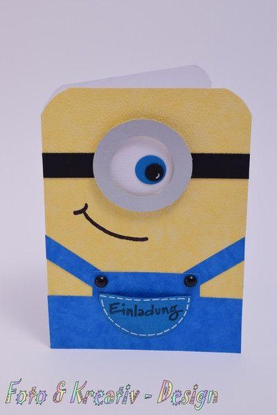 Minion   Einladungskarte Kindergeburtstag Von Fotou0026Kreativ Design Auf  DaWanda.com