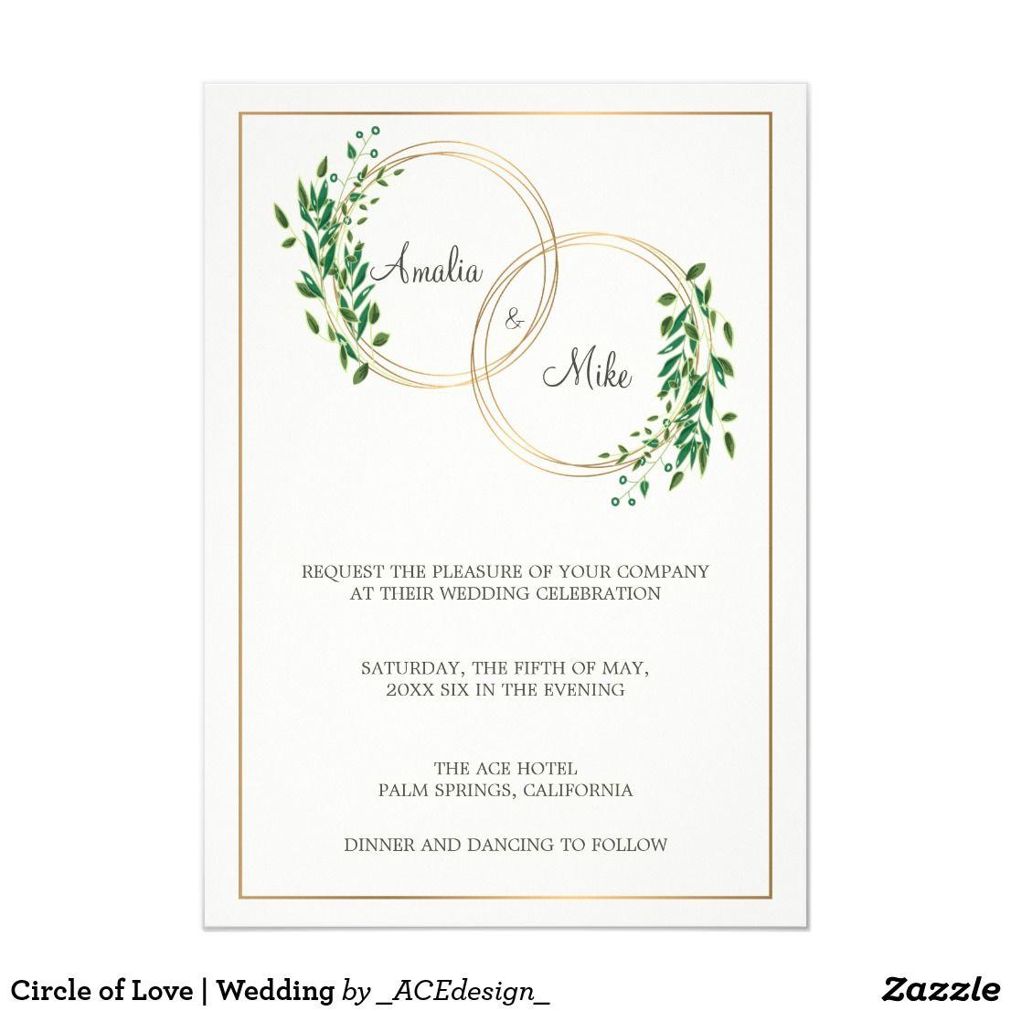 Circle Of Love Wedding Invitation Zazzle Com Wedding Cards Country Wedding Invitations Engagement Invitation Cards