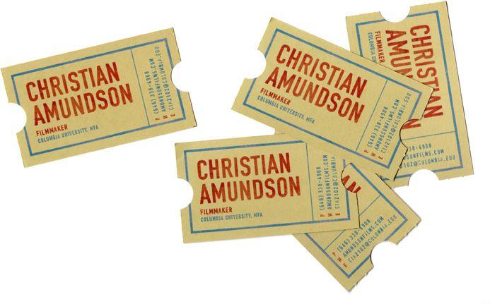 Cool business cards for a filmmaker ive got an idea pinterest these were designed for filmmaker christian amundson by alice cho colourmoves