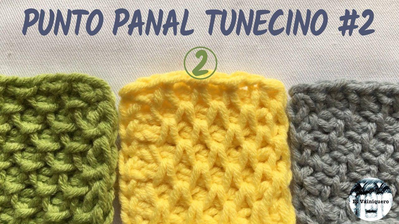 Punto panal tunecino #2 (colmena, nido de abeja, smock) - Crochet ...