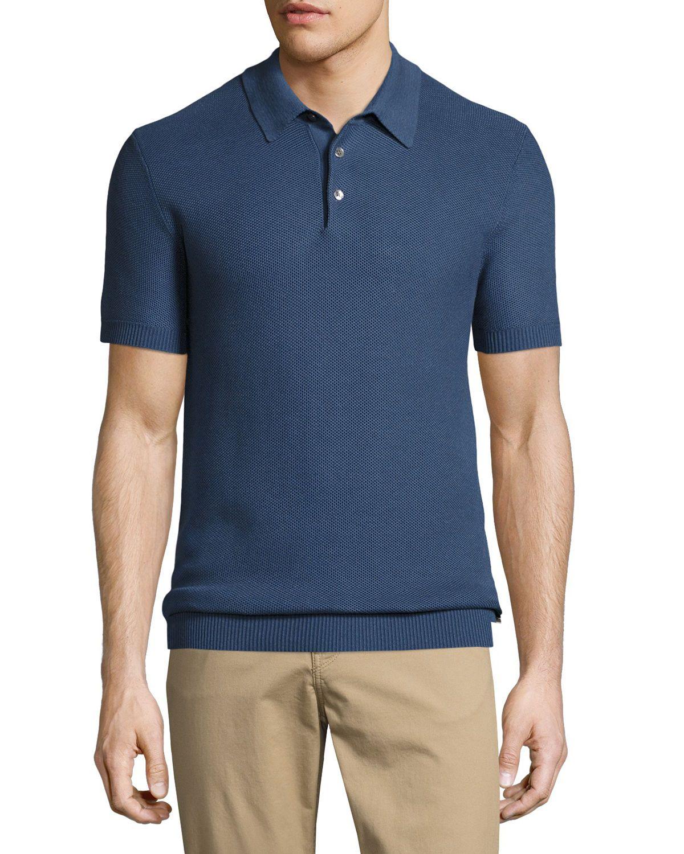 Silk-Cotton Piqué Polo Shirt