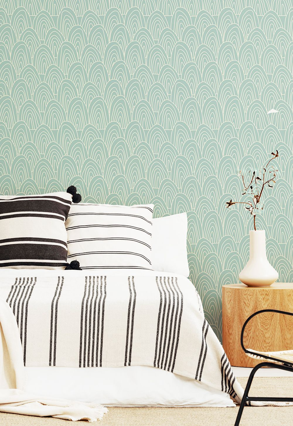 Gray And Green Seamless Basic Peel And Stick Removable Wallpaper 8446 Removable Wallpaper Bedroom Removable Wallpaper Wall Coverings Green and white wallpaper for walls