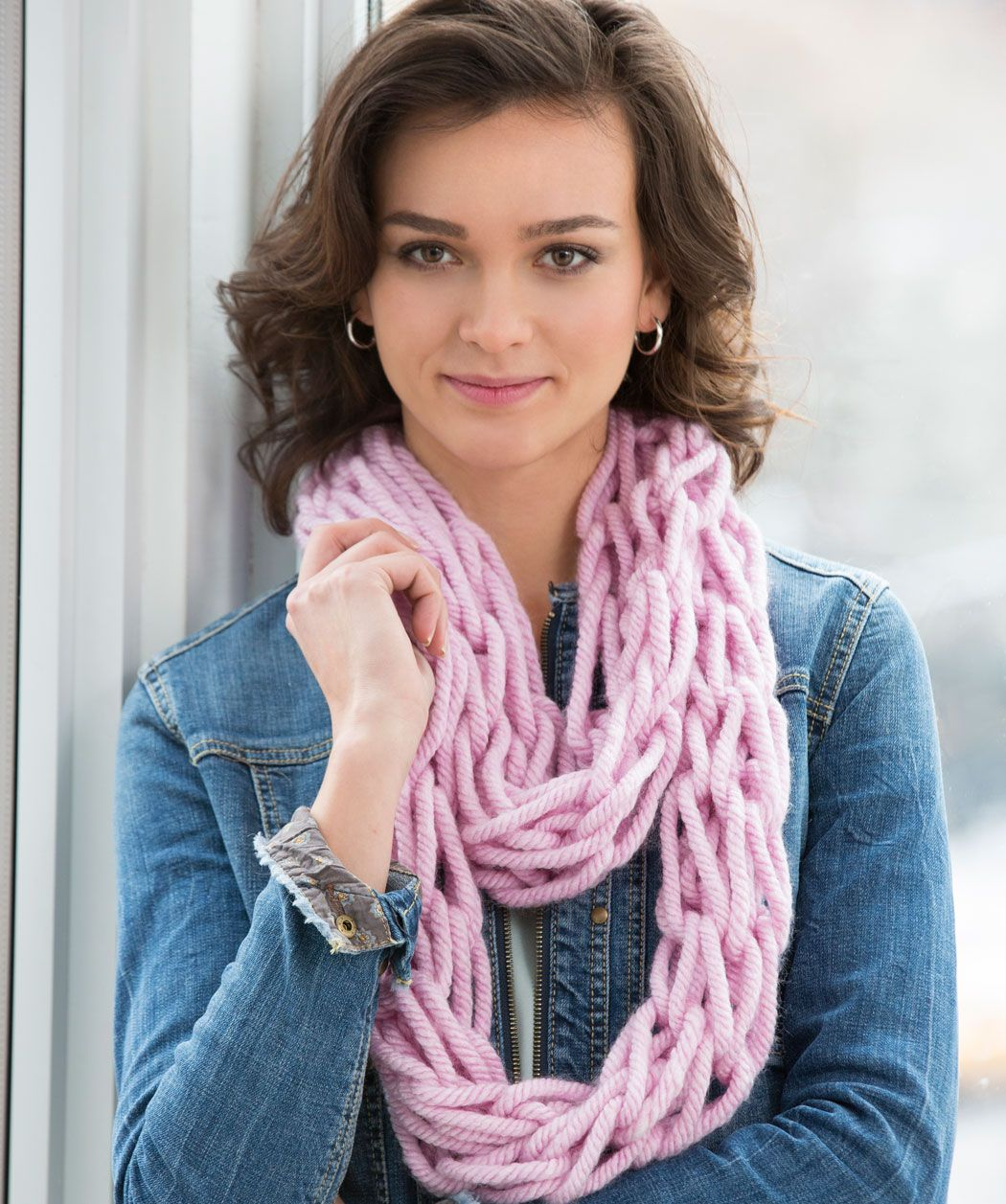 Arm-Knit Cozy Cowl Free Pattern from Red Heart Yarns | New, New Free ...