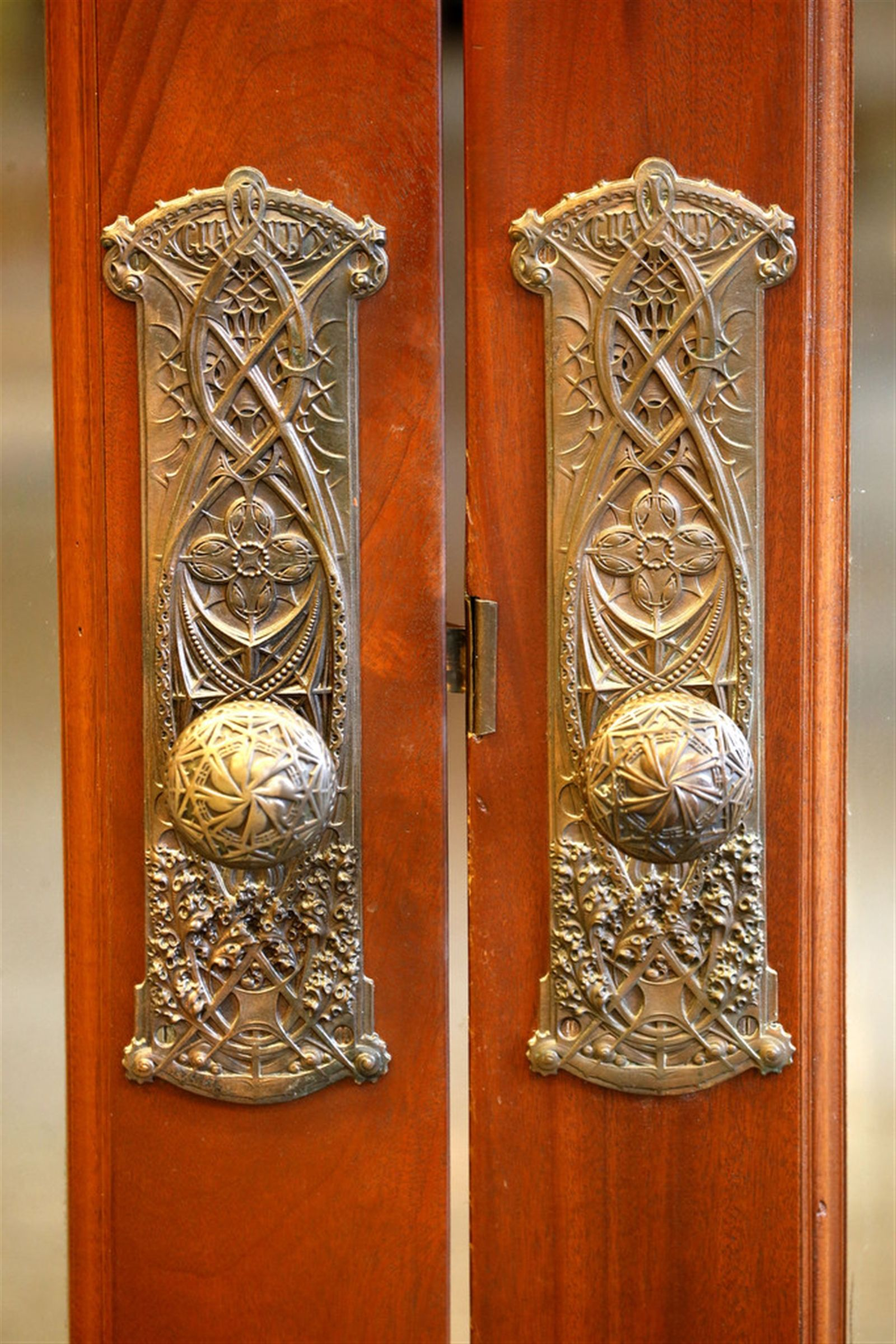 Interior Brass Door Pulls Guaranty Building Buffalo Ny