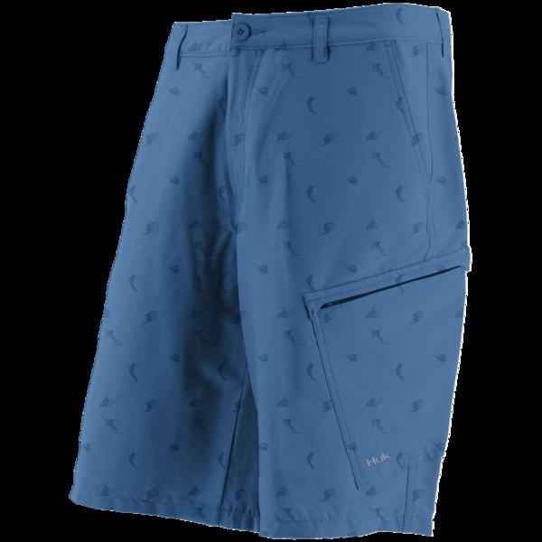 Huk Kc Scott Billfish Hybrid Lite Shorts Blue Front Performance