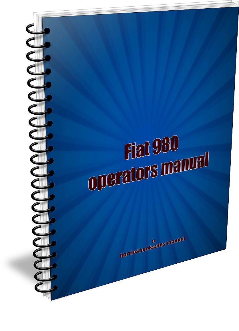 Fiat 980 owners manual to download