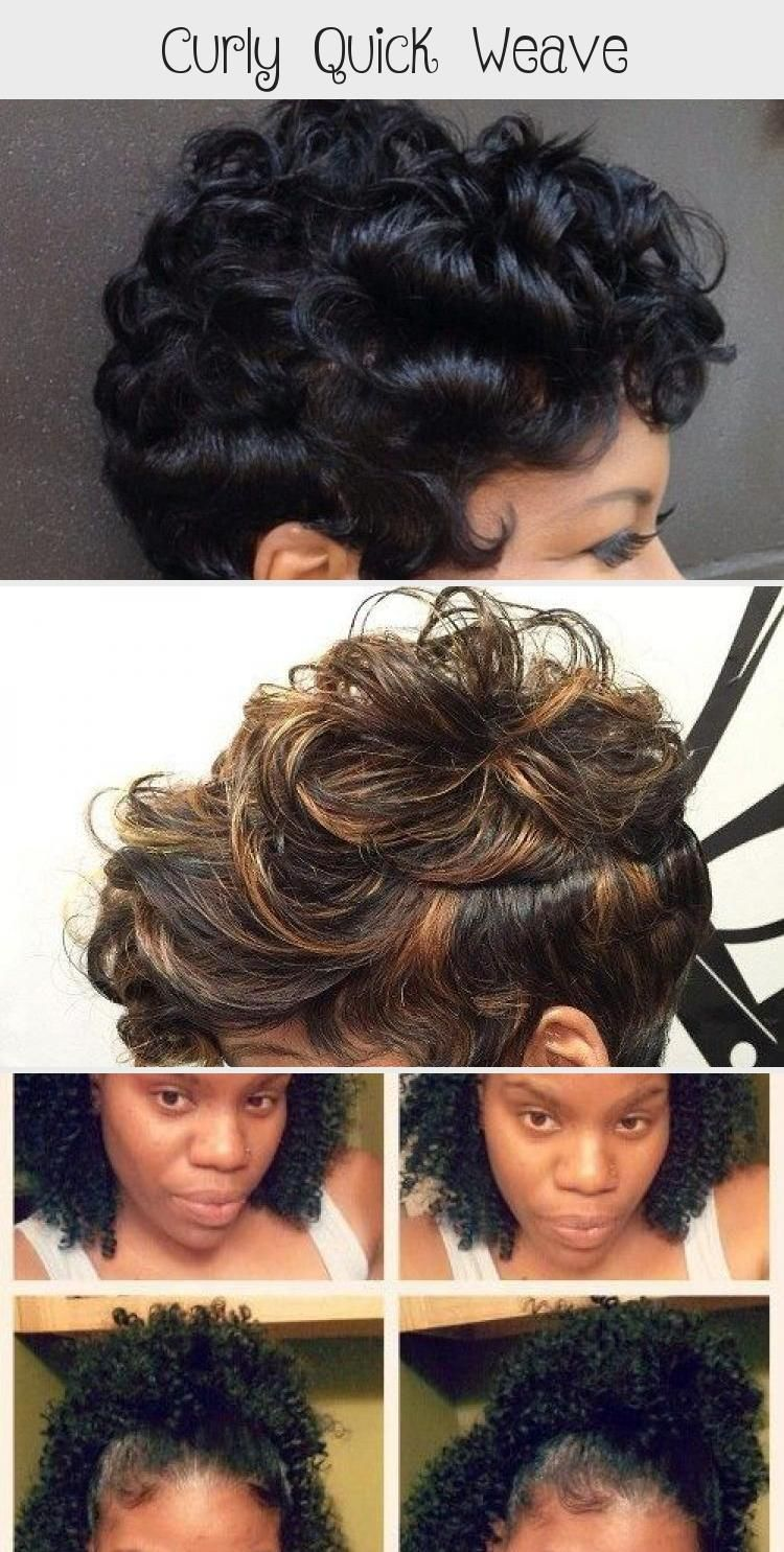 Quick Weave Curly Hair Styles Curlyhairoutfits Curlyhairkorean Blackcurlyhair Curlyhairtips Frizzycur In 2020 Quick Weave Curly Quick Weave Hairstyles Hair Styles