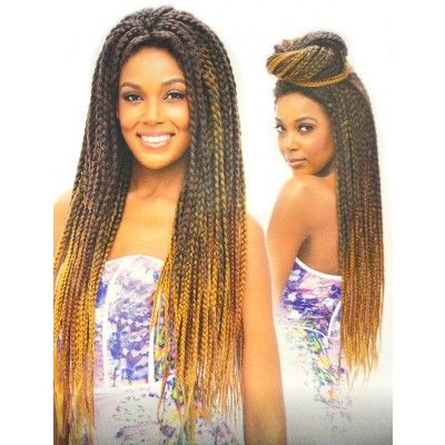 Vanessa Senegal Braid Lace Front Wig Tops Boxy Braid 2 Hand
