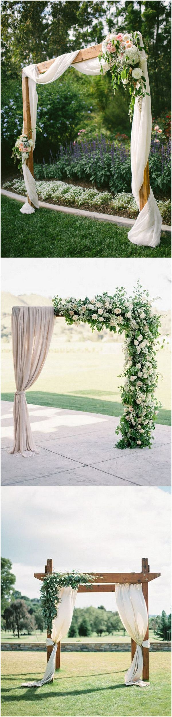 Trending-20 Gorgeous Wedding Ceremony Ideas with Draped Fabric for 2019