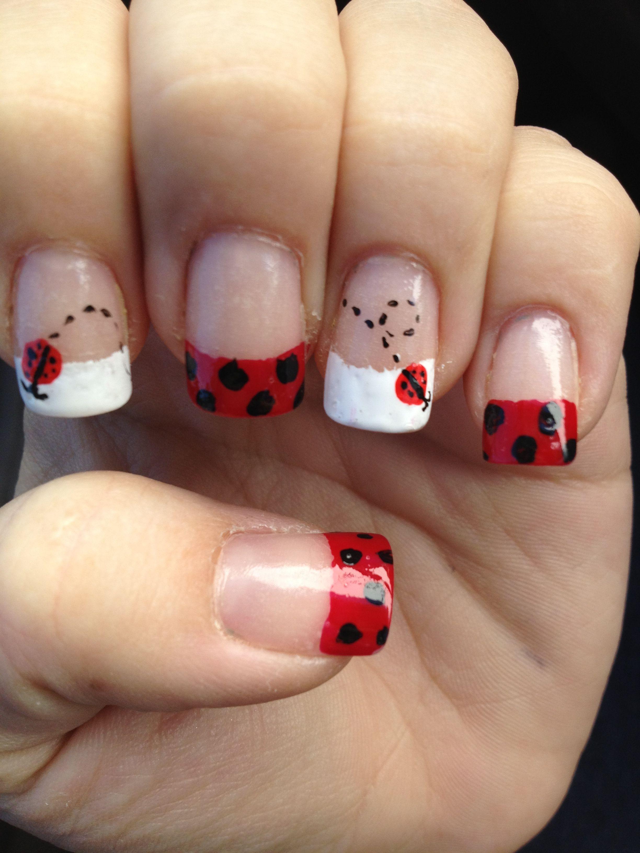 Ladybug nails. | Nails | Pinterest | Nagelschere