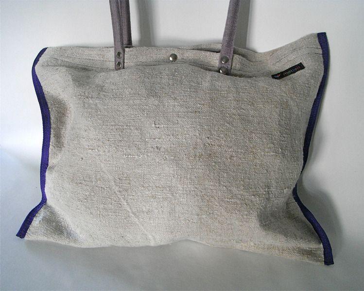 cf8952cd3d460 Stabile Leinentasche aus Handgewebtem Leinen. Geeignet für den Einkauf