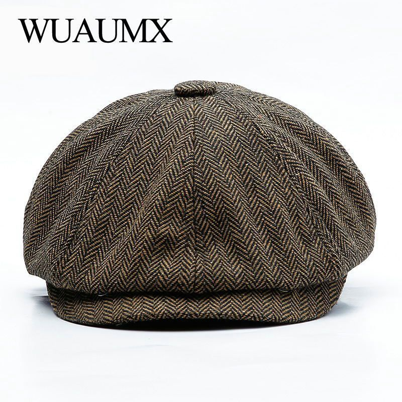 dcc6e171 Wuaumx Unisex Autumn Winter Newsboy Caps Men And Women Warm Tweed Octagonal  Hat #fashion #clothing #shoes #accessories #womensaccessories #hats (ebay  link)
