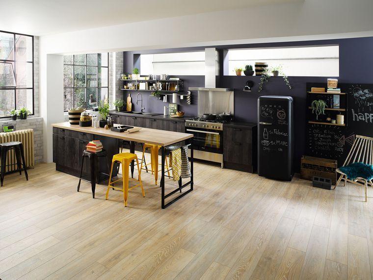 Cuisine avec îlot central  des modèles de cuisines avec îlot tendance - Plan De Cuisine Moderne Avec Ilot Central