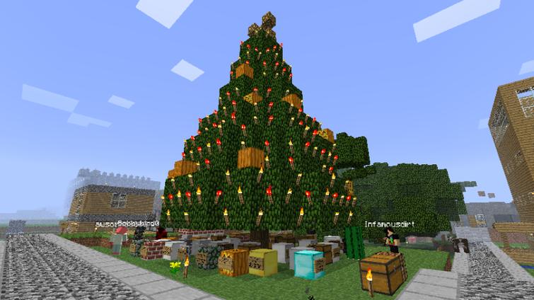 Minecraft Christmas Tree Disenos Minecraft Casas Minecraft Minecraft