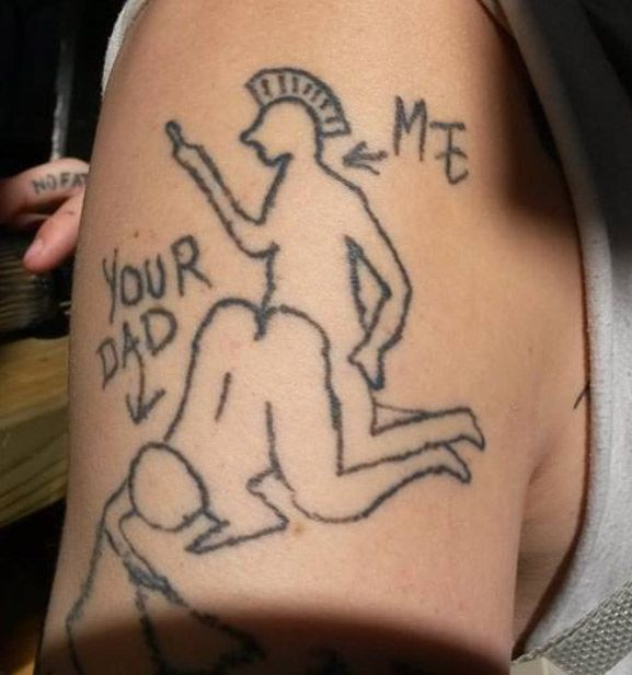 More Homemade Tattoo Madness Homemade Tattoos Tattoos Horrible