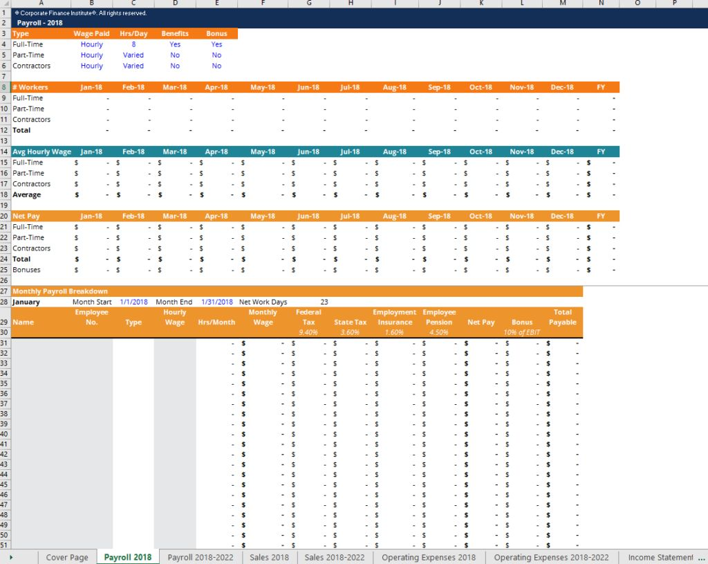 Financial Projection Template Download Free Excel Template