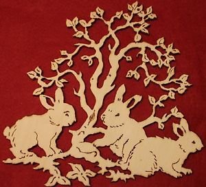 Fensterbild Holz Ostern Hase 19x18cm Handarbeit