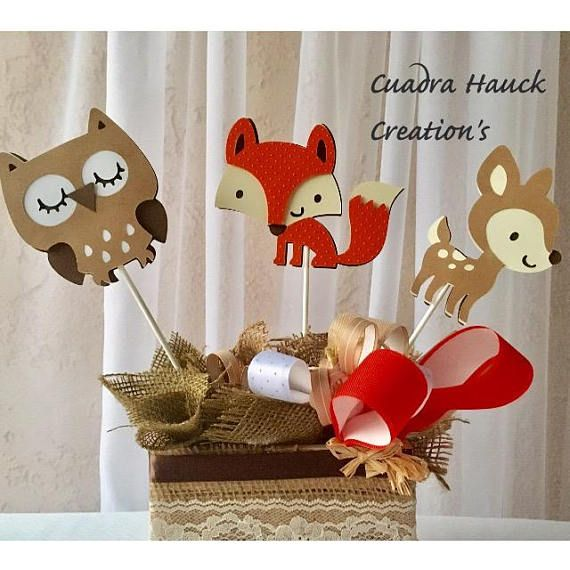 Woodland birthday party Woodland baby shower Owl Deer