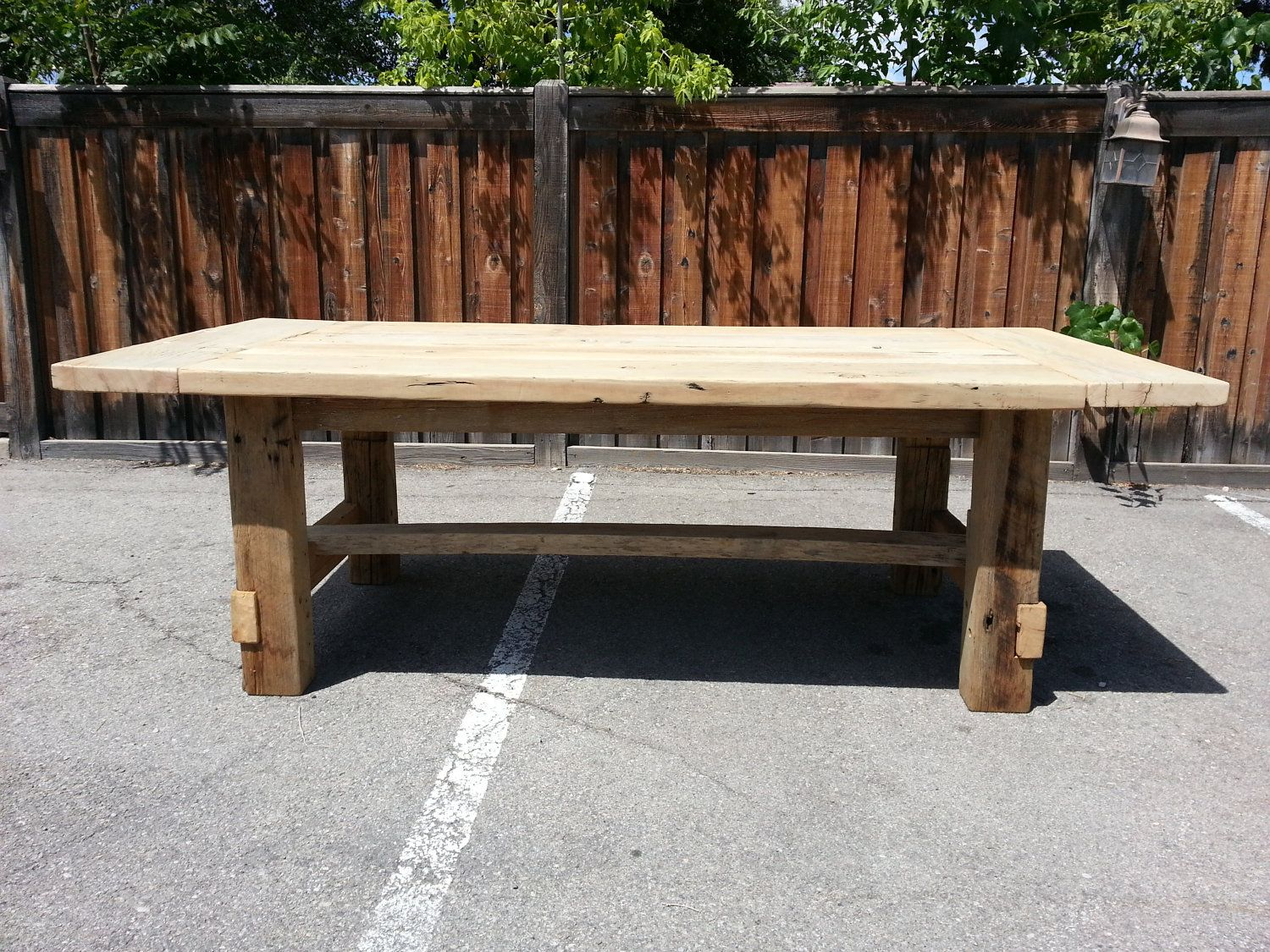 Farmhouse Salvaged Reclaimed Wood Rectangular Table Similar To Restoration Hardware Design But Not Made In