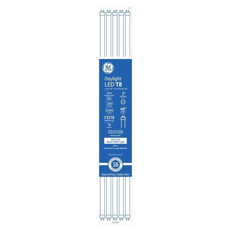 Ge Led 32 Watt Eq 47 76 In Daylight Linear Led Tube Light Bulb 16 Pack 30607 Access Lighting Led Tube Light Tube Light