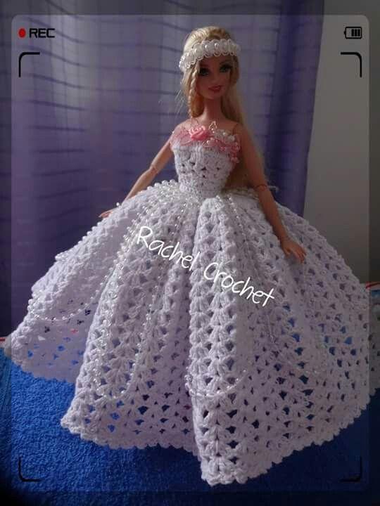 Pin de pajoreva en Horgolás | Pinterest | Barbie, Vestido de Barbie ...